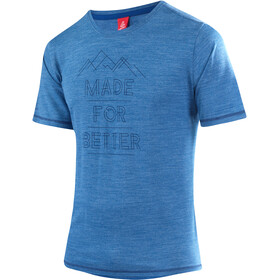 Löffler Merino CF T-shirt Herrer, curacao melange